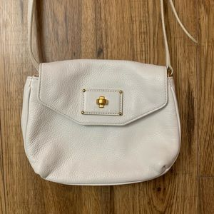 Marc Jacobs white leather crossbody